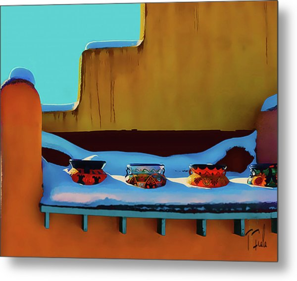 Christmas Morning Taos Metal Print