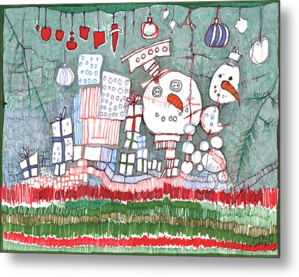 Christmas On The Edge Metal Print