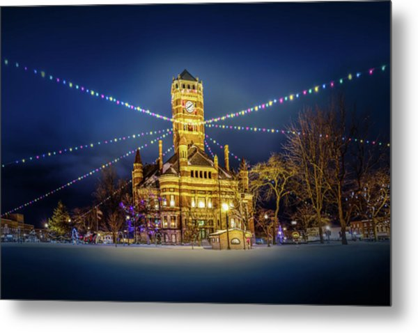 Metal Print featuring the photograph Christmas On The Square 2 by Michael Arend