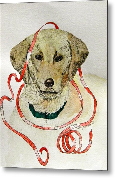 Christmas Puppy Metal Print by Terry Honstead