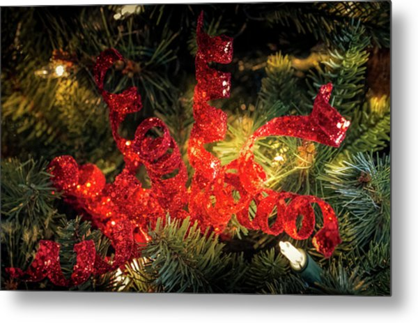 Christmas Red Metal Print