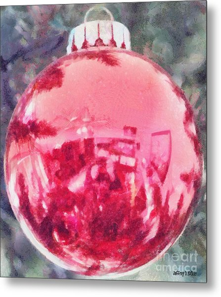 Christmas Reflected Metal Print