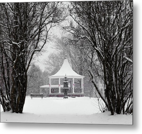 Christmas Season In The Park Metal Print
