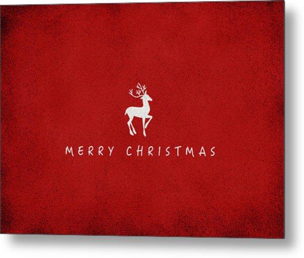 Christmas Series Christmas Deer Metal Print