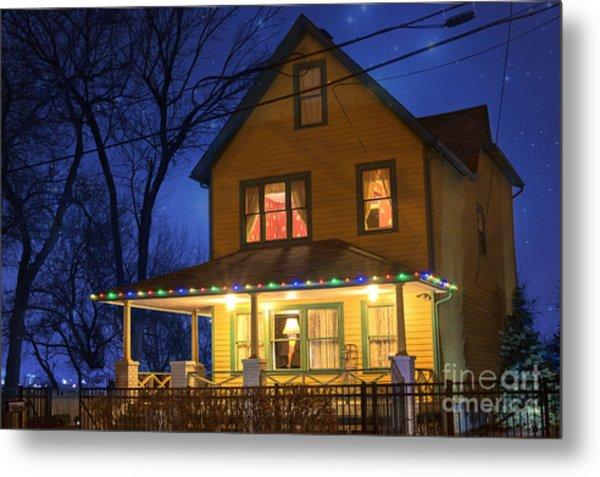 Christmas Story House Metal Print