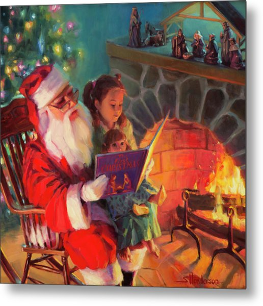 Metal Print featuring the painting Christmas Story by Steve Henderson