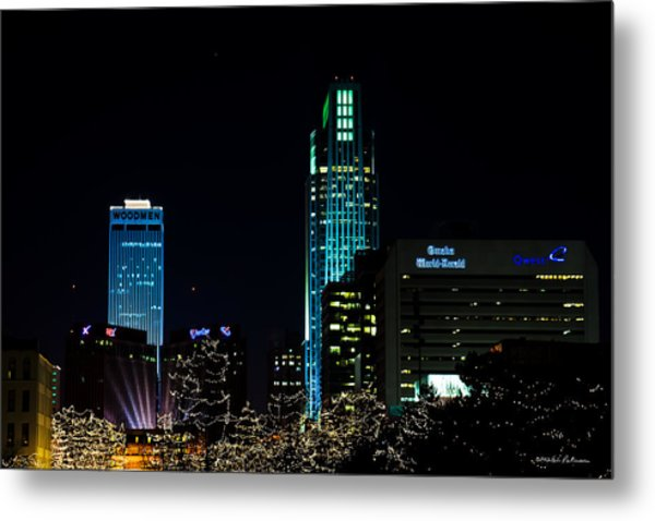 Christmas Time In Omaha Metal Print