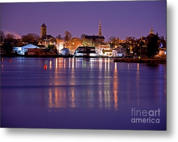 Christmas Waterfront Metal Print by Butch Lombardi