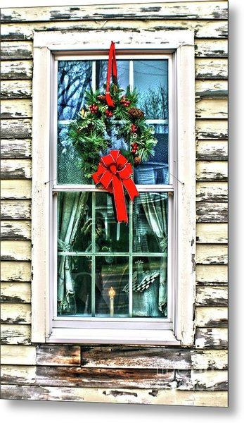 Christmas Window Metal Print