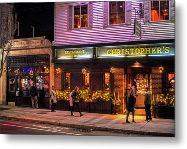 Christopher's And The Toad Cambridge Ma Porter Square Metal Print
