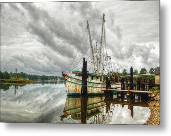 Christy Lynn On Bon Secour Metal Print