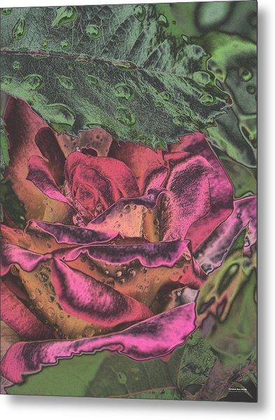Chrome Rose 64182 Metal Print