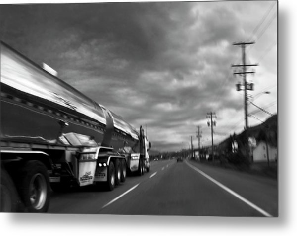Chrome Tanker Metal Print