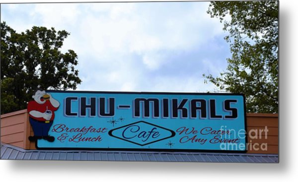 Chu - Mikals - Friendly Austin Texas Charm Metal Print