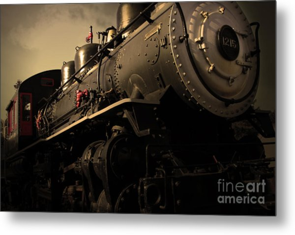 Chugging Across America In The Age Of Steam . Golden Cut . 7d12980 Metal Print
