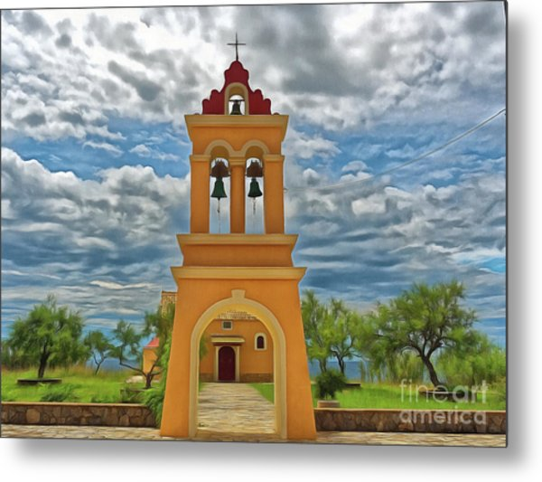 Metal Print featuring the photograph Church Agios Georgios Corfu by Leigh Kemp