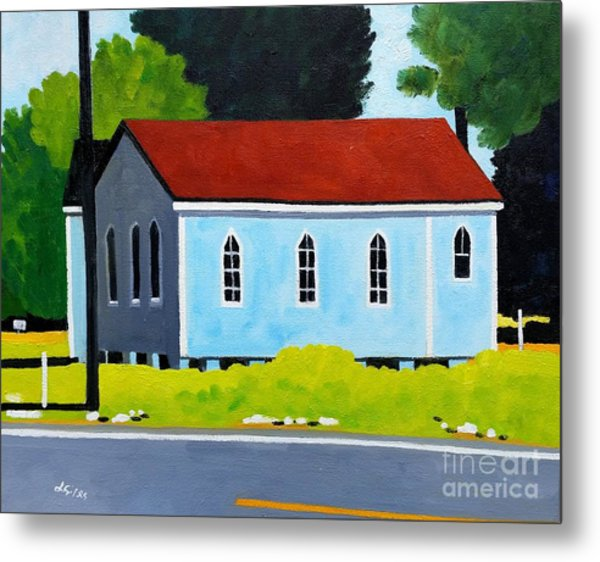 Church, Dailsville Rd Metal Print by Lesley Giles