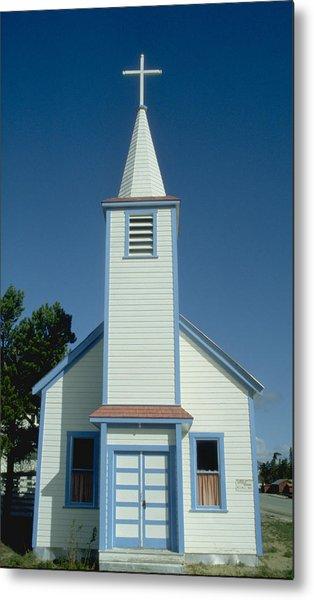 Church In Alaska Metal Print by Carl Purcell
