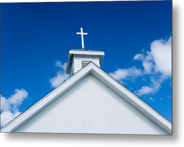 Church In Bahamas Metal Print by Richard Steinberger