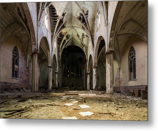 Church In Color Metal Print