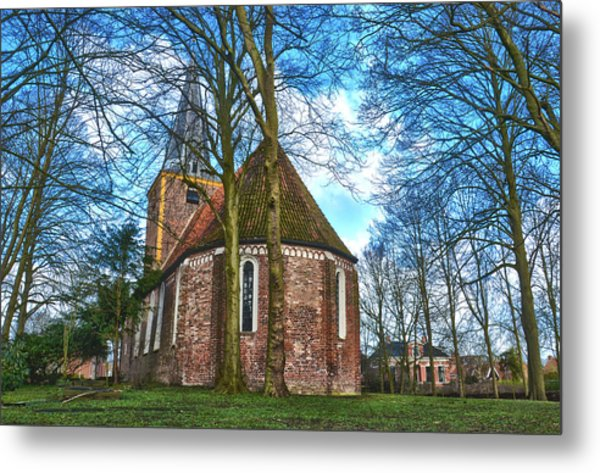 Church In Winsum Metal Print