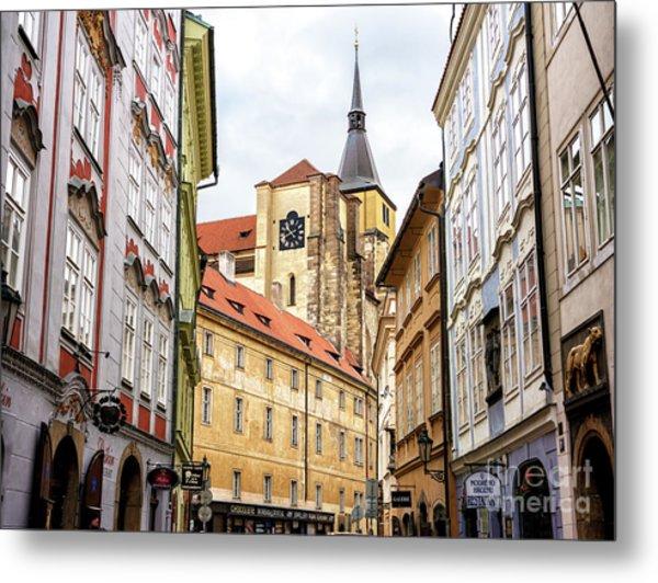 Church Of Saint Giles In Prague Metal Print by John Rizzuto