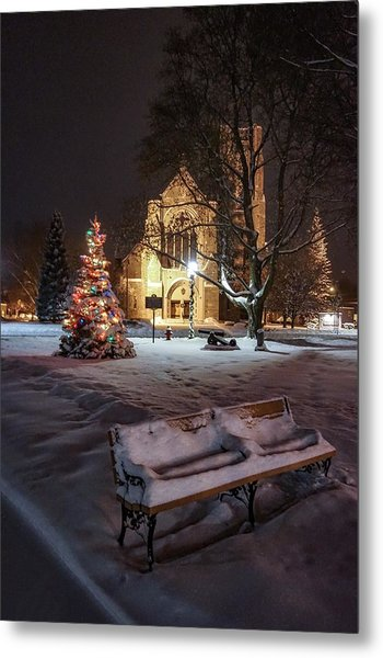 Church Of St Mary St Paul At Christmas Metal Print