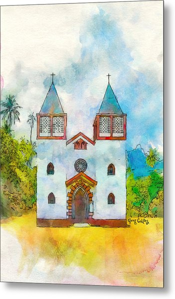 Church Of The Holy Family Metal Print