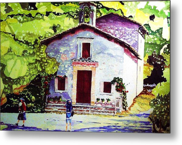 Church Of The Roses Italy Metal Print by Tom Herrin