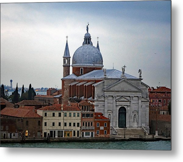 Church Of The Santissimo Redentore On Giudecca Island In Venice Italy Metal Print