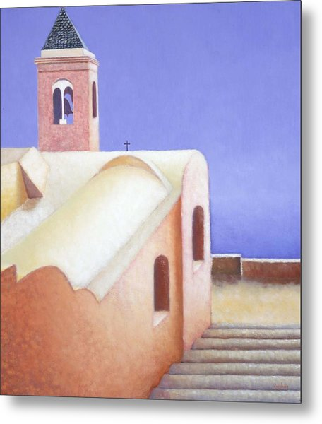 Church On The Coast Metal Print by Gloria Cigolini-DePietro