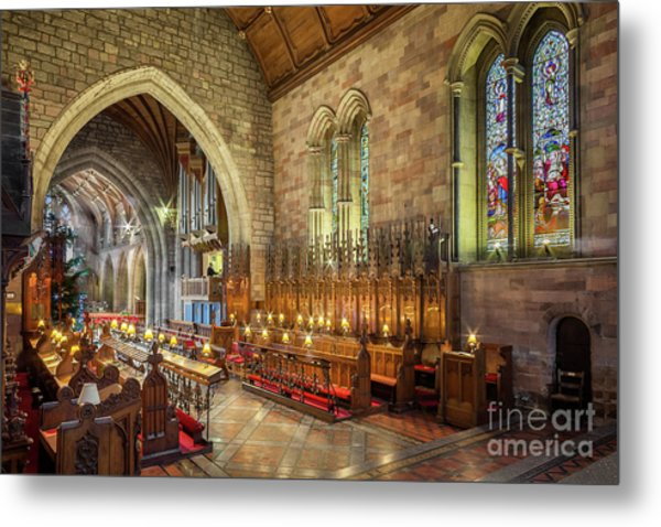 Church Organist Metal Print