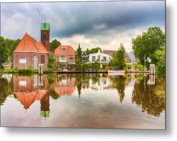Church Reflections Metal Print