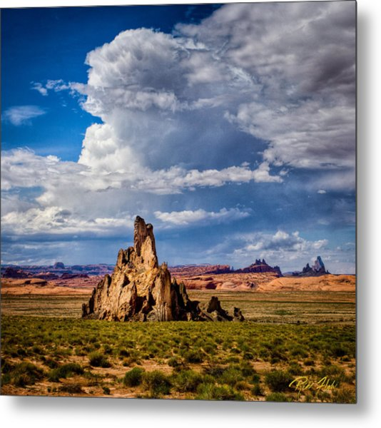 Church Rock Thunderhead Metal Print