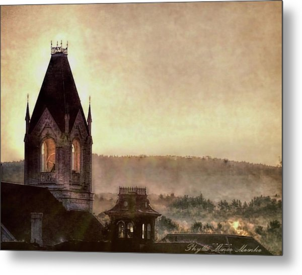 Church Steeple 4 For Cup Metal Print
