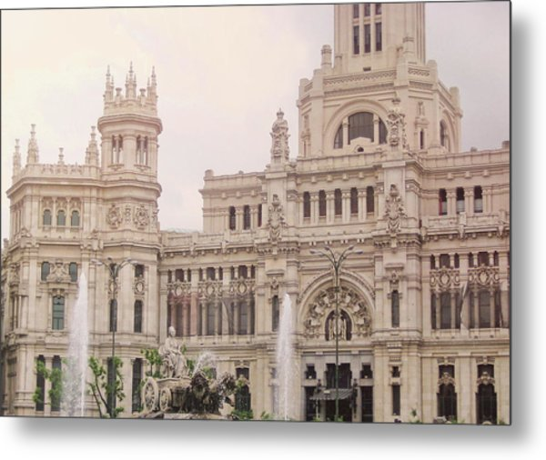 Cibeles Palace Metal Print by JAMART Photography