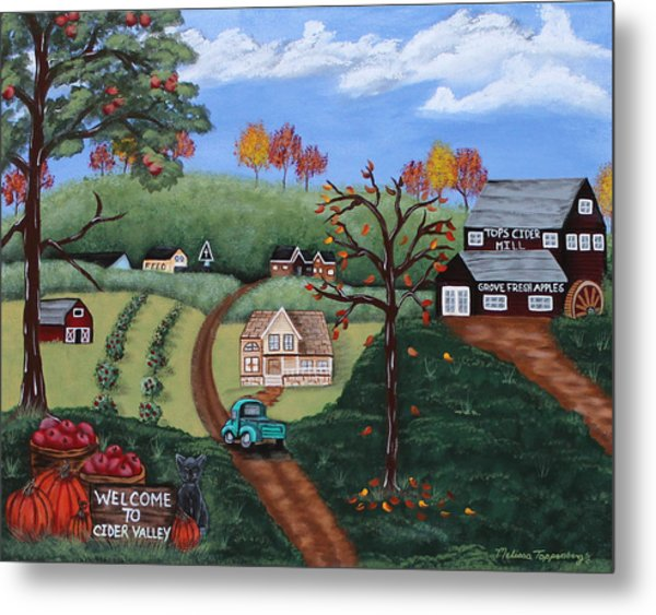 Cider Valley Metal Print