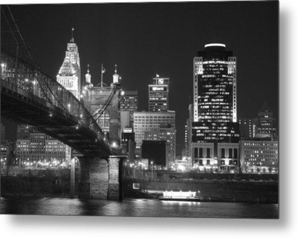 Cincinnati At Night Metal Print
