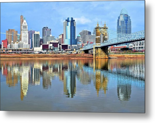 Cincinnati Ohio Times Two Metal Print