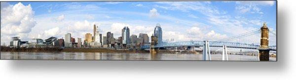 Cincinnati Panorama Metal Print