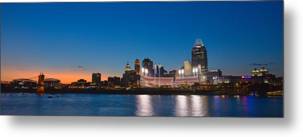 Cincinnati Skyline Sunset Metal Print