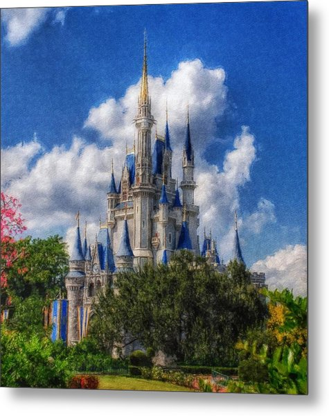 Cinderella Castle Summer Day Metal Print