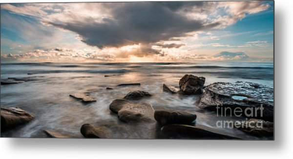 Cinematic Waves Metal Print