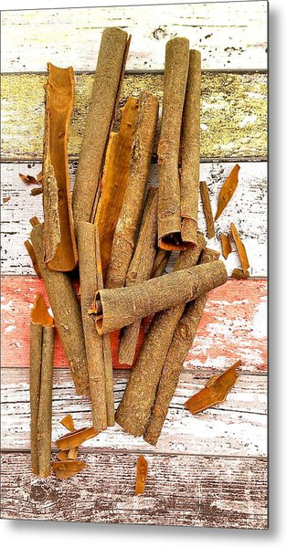 Cinnamon Bark Metal Print