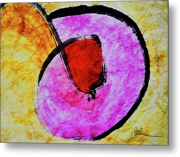 Metal Print featuring the painting Circle Of Life by Joan Reese