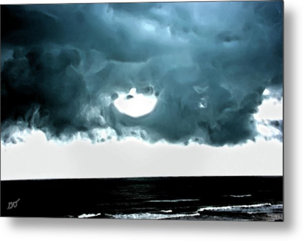 Circle Of Storm Clouds Metal Print