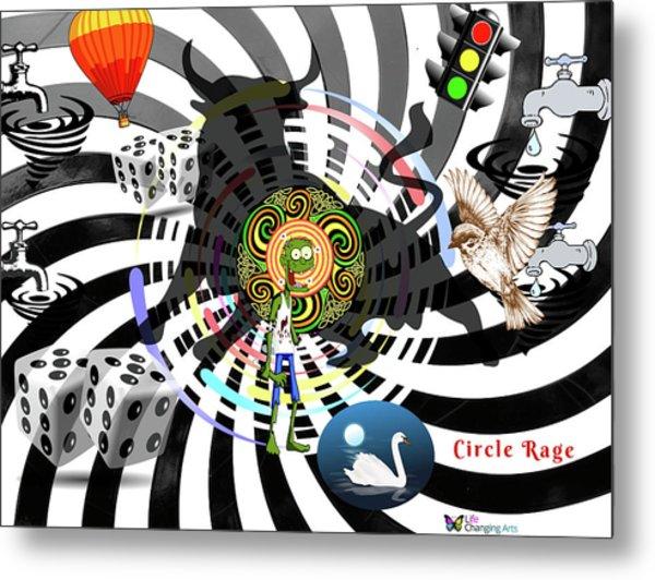 Circle Rage II Metal Print