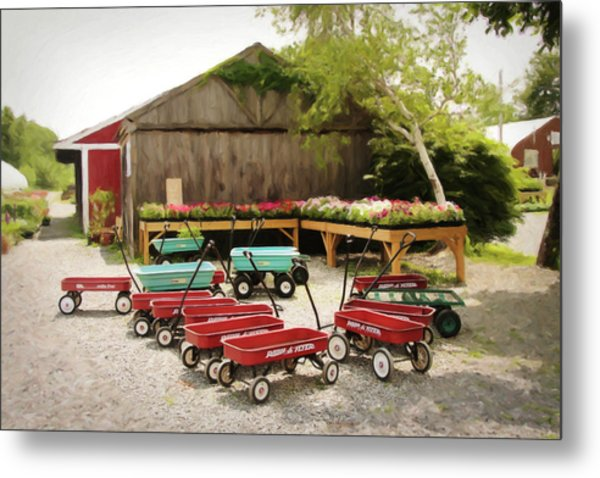 Circle The Wagons Metal Print