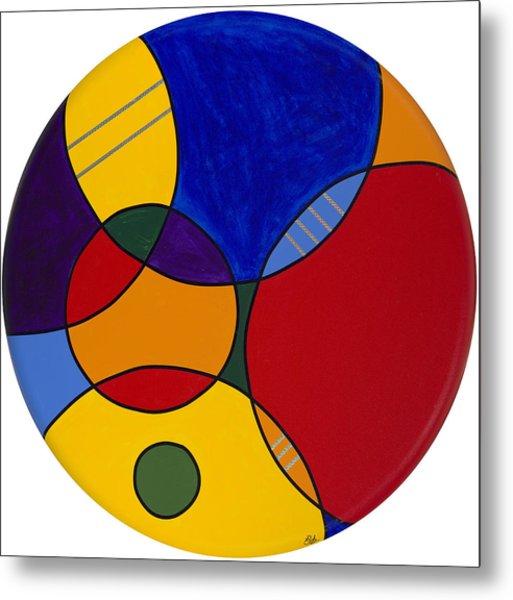 Circles Abstract 1 Metal Print
