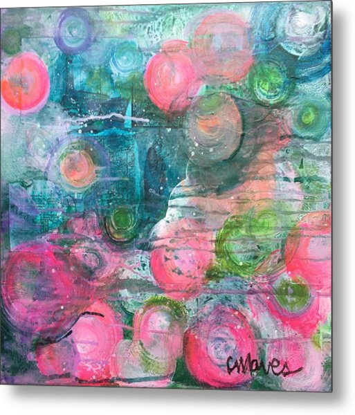 Metal Print featuring the painting Circles For San Marco  by Laurie Maves ART